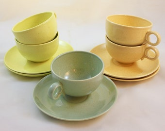 Vintage Taylor Smith Taylor Pebbleford Cups and Saucers/ Gilkes/ Mid Century/ Kitchen Decor