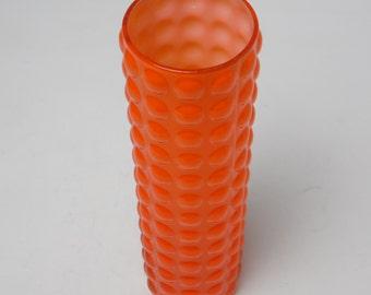 Orange pop-art glass vase