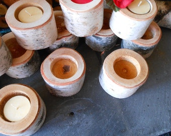 """Birch Small  2"""" ... 36  Count Tree Branch Candle Holders"""