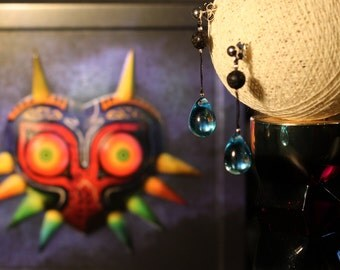 Zelda Majora's Mask Moon Tear earrings