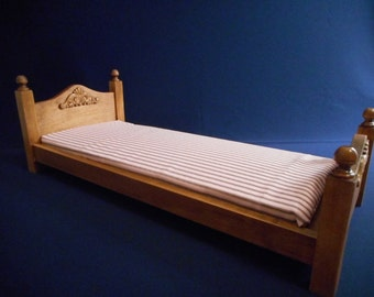 American girl doll bed - doll furniture - wooden doll bed -doll accessory