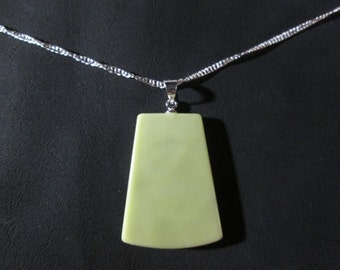 Healite pendant on 18 inch necklace - HP12