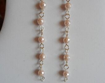 Pink Pear Drop Earrings