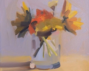 Warm March Bouquet Archival Print of Amy Brnger Painting