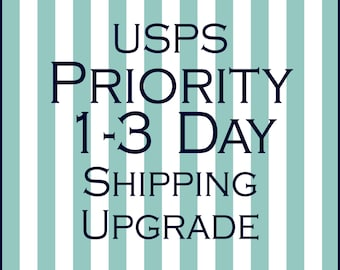 Upgrade to USPS Priority 1-3 Day Shipping