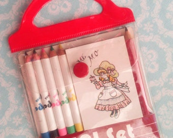 Mini Pencil Set Japan Vintage 1980s