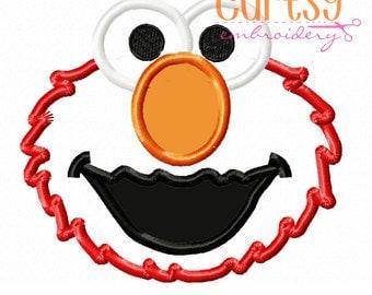 Elmo Embroidery Design, Elmo Applique Design, Sesame Street Embroidery Design
