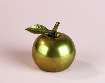Vintage Small Brass Apple Bell