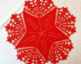 Crocheted crochet blanket / blanket