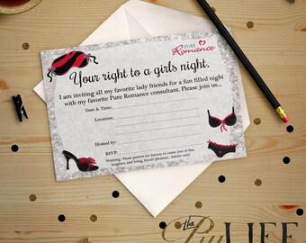 Pure romance etsy glitter girls night pure romance party invitation printable diy no i17 stopboris Gallery
