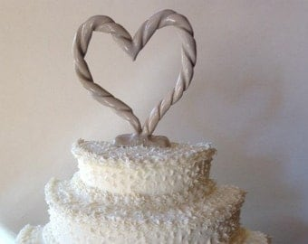 Ceramic Braided Heart Cake Topper