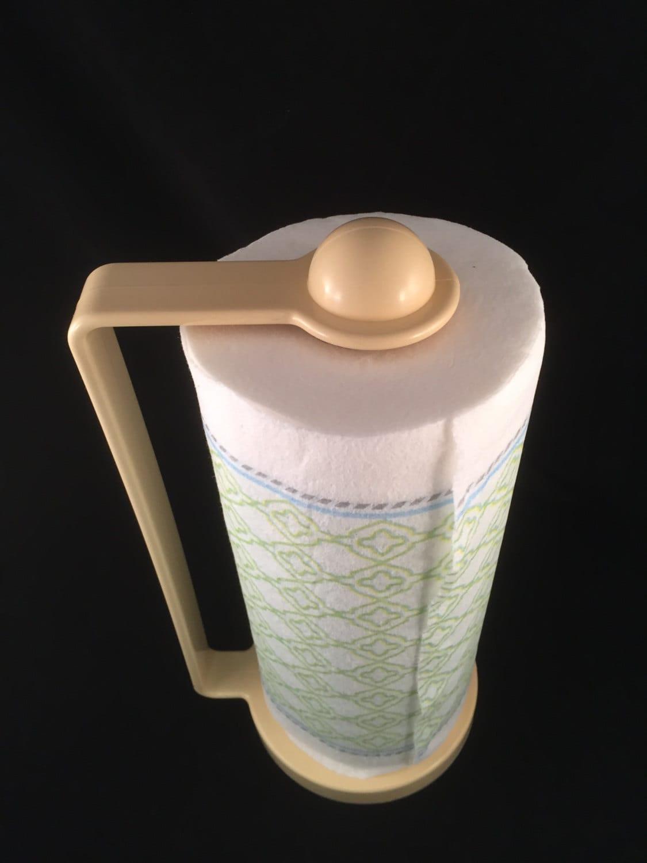 rare vintage 1950 39 s plastic paper towel holder pale. Black Bedroom Furniture Sets. Home Design Ideas