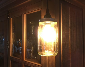 Mason Jar Pendant Light - Vintage Style LED Light