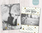 SALE NOW ON Christmas Card Template - Photoshop template - Ac016 - Instant Download