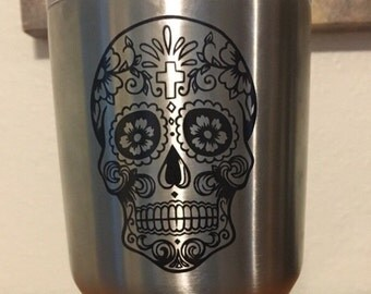 Sugar Skull Decal | Sugar Skull | Yeti Decal | Cup Decal | Yeti Cup Decal | Car Decal | Car Window Decal | Cup Stickers | Decal for Yeti