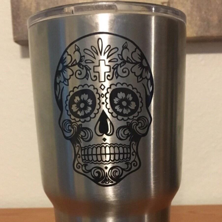 Sugar Skull Decal Sugar Skull Yeti Decal Cup Decal