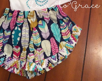 Feather Lucy Ruffle short 6/12M-8 girls