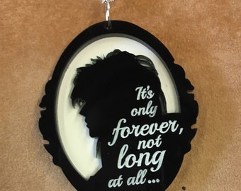 JARETH (David Bowie) cameo pendant..with LABYRINTH quote