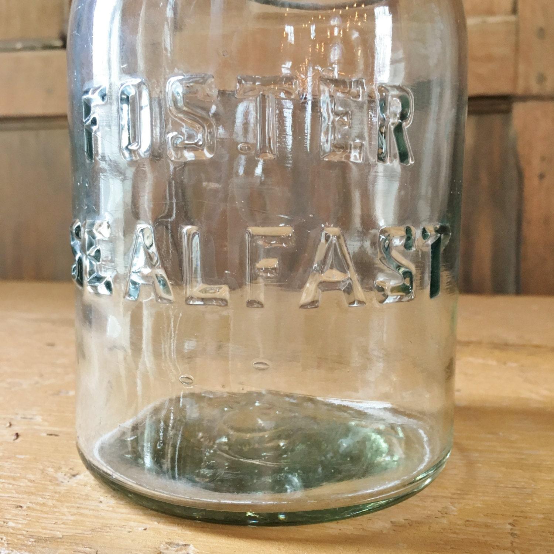 vintage mason jar foster sealfast glass jar vintage kitchen