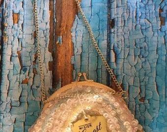 Vintage Evening bag Mister Ernest Handbag Inc made in Hong Kong sequins