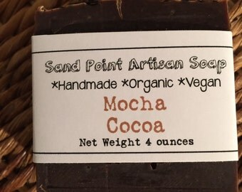 Organic Vegan Mocha Cocoa Soap