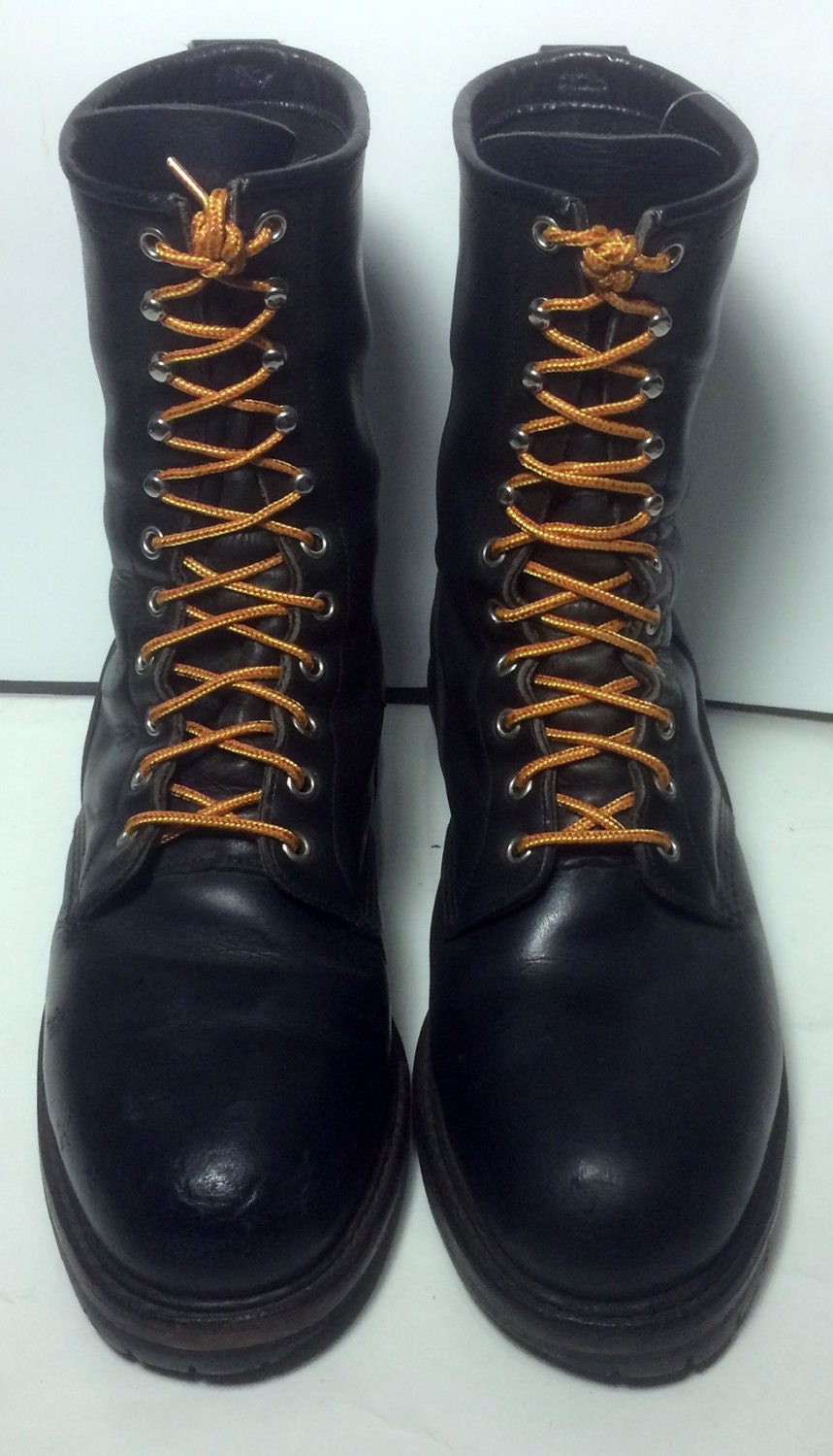 Red Wing 174 Steel Toe Logger Black Leather Work Boots Made In