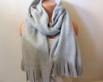 Light grey Long Plaid scarf Christmas Gift, winter scarf, Winter accessories Christmas gift