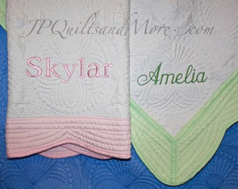 Embroidered Baby Quilt