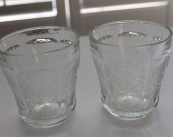 Vintage pressed glass tumblers