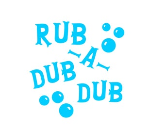 Rub A Dub Dub Bottle Decal, Permanent Vinyl Decal, Soap Bottle Decal, Bathroom Decal, Bathroom Decor Rub A Dub Dub