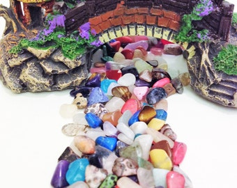 Small Polished Stones Fairy Garden Path Pebbles Landscape Polished Gemstones #2