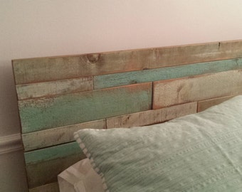 Rustic Head Board / Coastal Style Bed Headboard / Queen Size Headboard / Queen Bed Headboard
