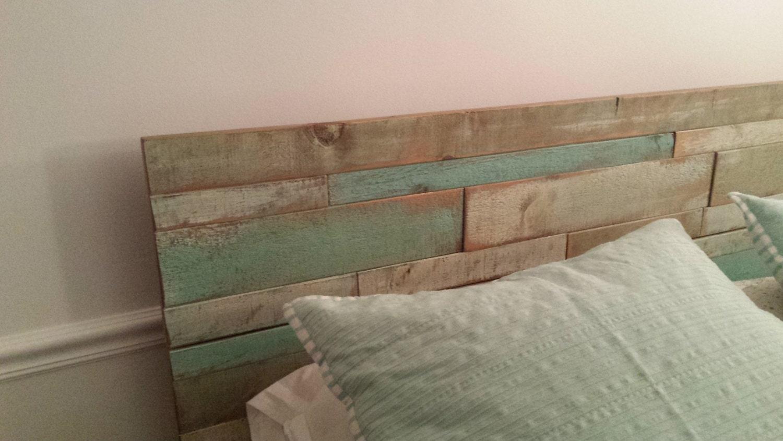 Rustic head board coastal style bed headboard queen size for Queen size headboard