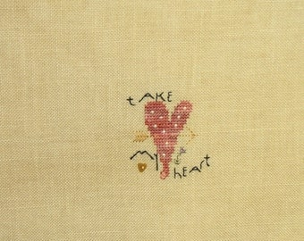 Take My Heart CrossStitch