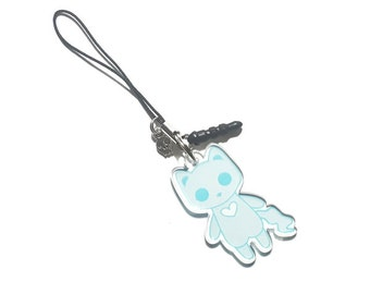 Creepy Cute Monster Cat Charm - Spectral the Ghost Cat - creepy cute monster cats pastel goth kawaii grunge halloween