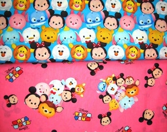 Disney Tsum Tsum Baby Emoji Cotton Fabrics by Springs Creative!  [Choose Your Cut Size]