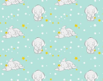 Disney Dumbo the Elephant Cotton Fabric by Springs Creative! [Choose Your Cut Size]