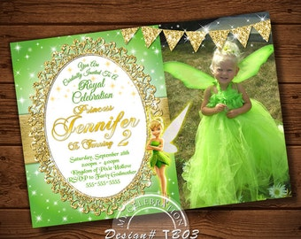 tinker bell invitations