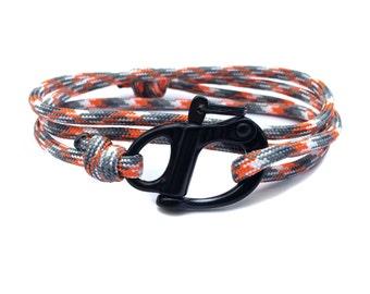 The Adventure Bracelet (Ion Storm Paracord) - paracord bracelet for men - parachute cord bracelet skydive shackle