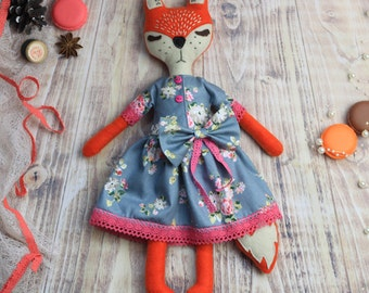 Felt fox doll - OOAK - ready to ship