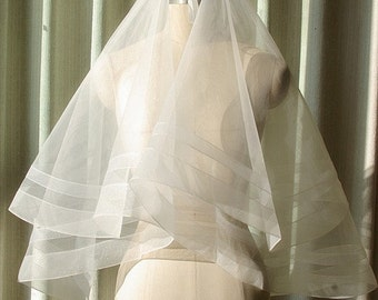 2T Ivory Bridal Veil With Comb