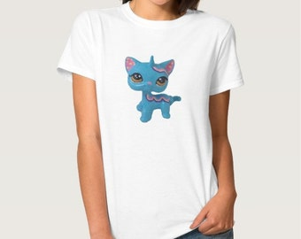 Adult Women's Custom Littlest Pet Shop Unicorn Cat T-Shirt