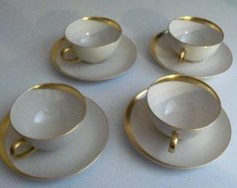 Pickard Jubilee Set Of Four Cup & Saucer Sets