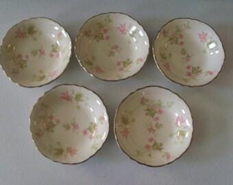 Homer Laughlin Maple Leaf 5 Fruit Or Dessert Bowls