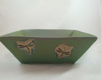 Dragonfly square bowl