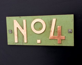 "Mission Mackintosh style 3""/75mm, 4""/100mm, with plywood back, custom made,  'No' with your 1 x number' o"