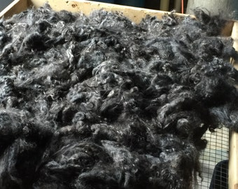 9 oz. Washed Black Kid Mohair