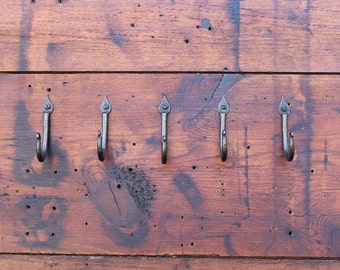 Kitchen Hooks - Hand Forged Hooks.  Set of Five.