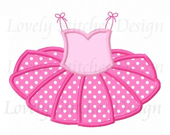 Ballet TUTU Applique Machine Embroidery Design NO:0532