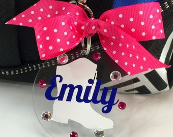 Drill Team Boot Bag Tag, Personalized, Gifts for Drill Teams